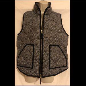 J Crew Factory Herringbone Vest Size Large